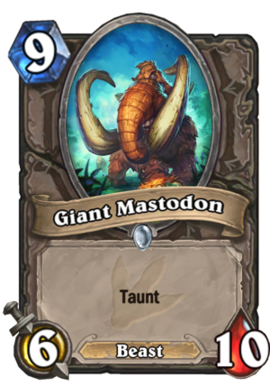 Giant Mastodon Card