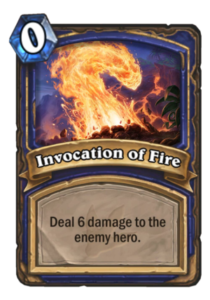 Invocation of Fire Card
