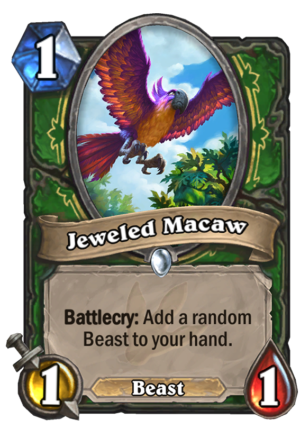 Jeweled Macaw Card