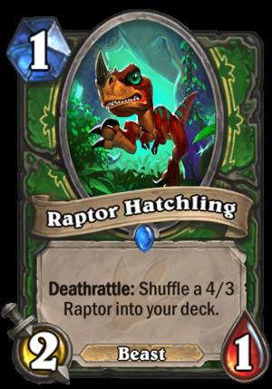 Raptor Hatchling Card