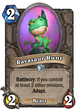 Ravasaur Runt Card
