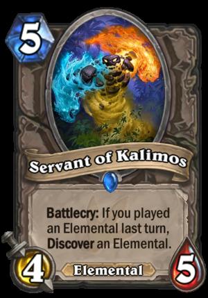 Servant of Kalimos Card