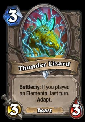 Thunder Lizard Card