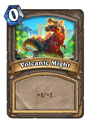 Volcanic Might Card