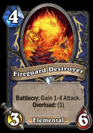 Fireguard Destroyer Card