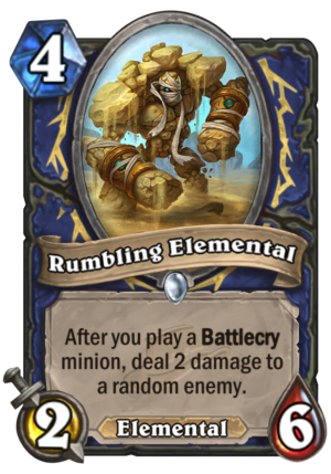 Rumbling Elemental Card