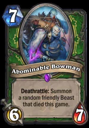 Abominable Bowman Card