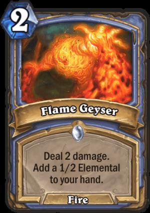 Flame Geyser Card