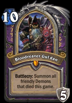 Bloodreaver Gul'dan Card