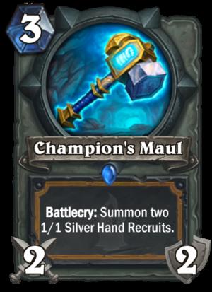 Champion's Maul Card