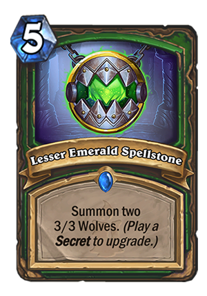 Lesser Emerald Spellstone Card
