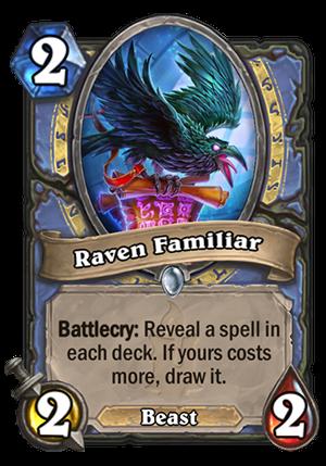 Raven Familiar Card