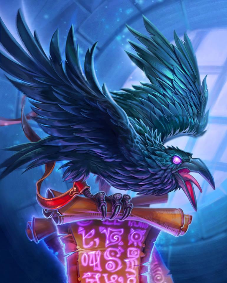 Raven Familiar Full Art