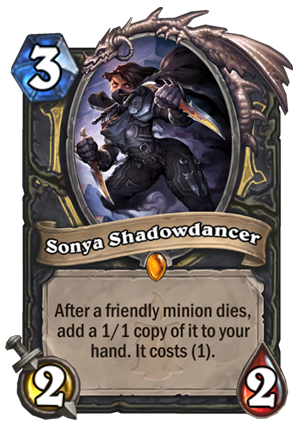 Sonya Shadowdancer Card