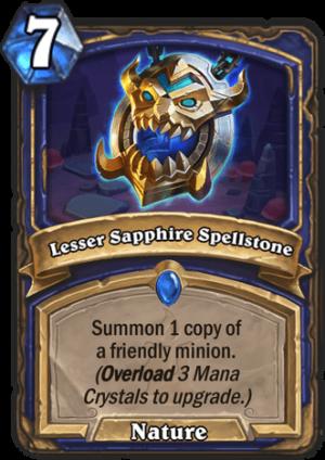 Lesser Sapphire Spellstone Card