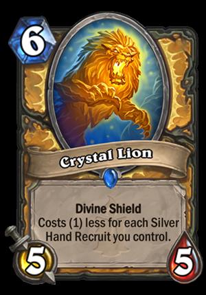 Crystal Lion Card
