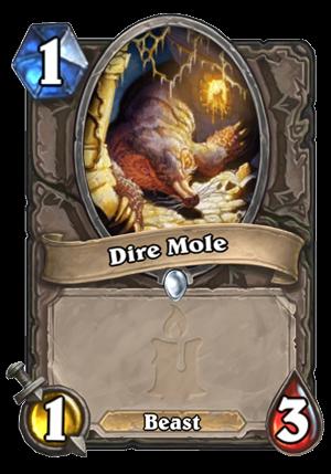Dire Mole Card
