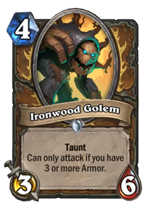 Ironwood Golem Card