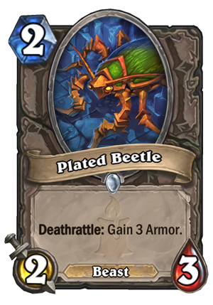 Plated Beetle Card