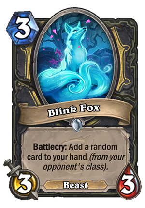 Blink Fox Card