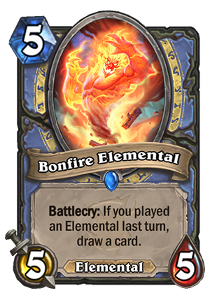 Bonfire Elemental Card