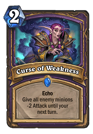 Curse of Weakness Card