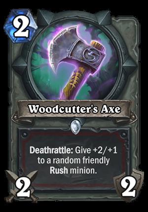 Woodcutter's Axe Card