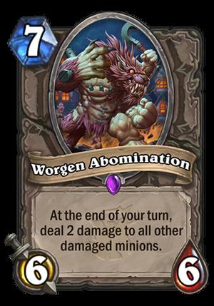 Worgen Abomination Card