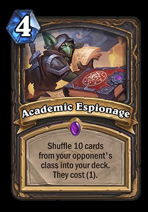 Academic Espionage Card