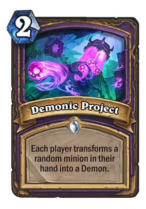 Demonic Project Card