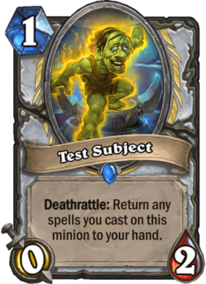 Test Subject Card
