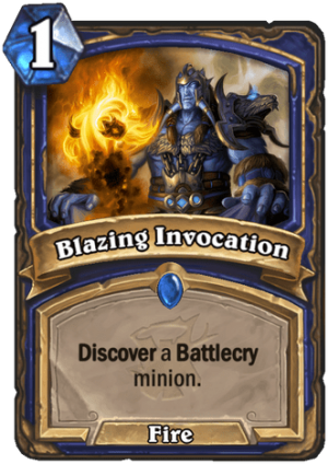 Blazing Invocation Card