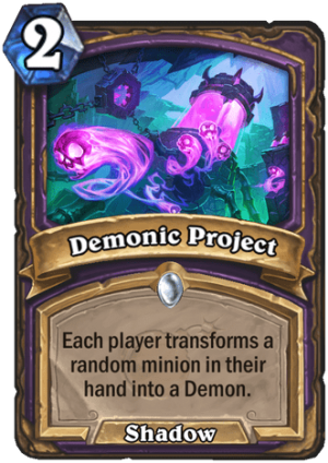 Demonic Project Card