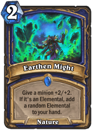 Earthen Might Card