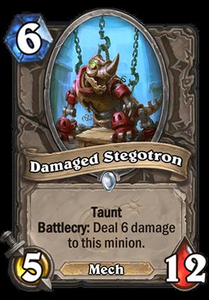 Damaged Stegotron Card