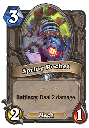 Spring Rocket Card