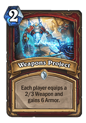 Weapons Project Card