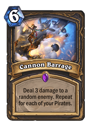 Cannon Barrage Card