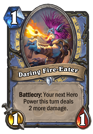 Daring Fire-Eater Card