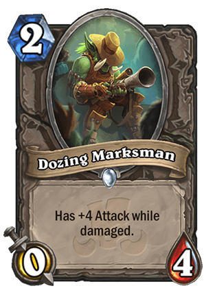 Dozing Marksman Card