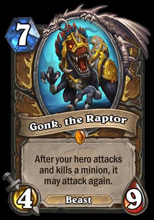 Gonk, the Raptor Card