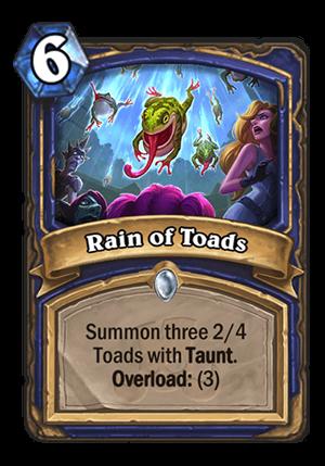 Rain of Toads Card