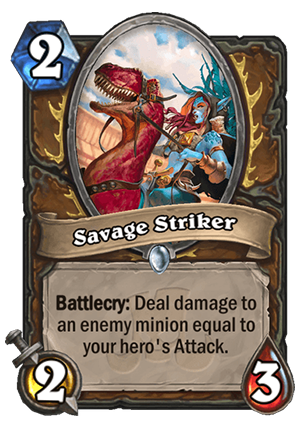 Savage Striker Card
