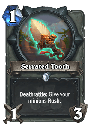 Serrated Tooth Card