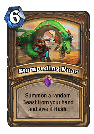 Stampeding Roar Card