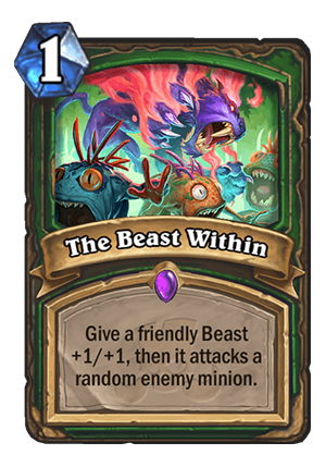 The Beast Within Card
