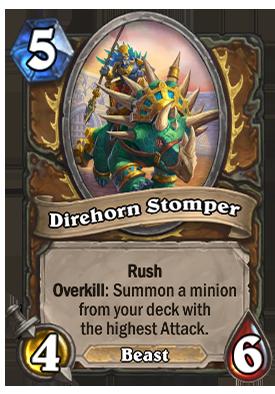 Direhorn Stomper Card