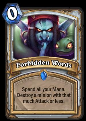 Forbidden Words Card