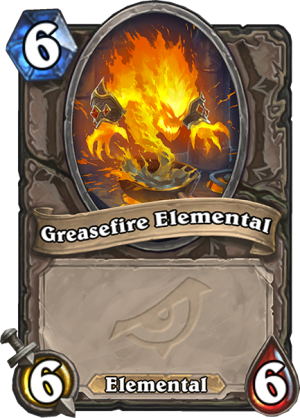 Greasefire Elemental Card