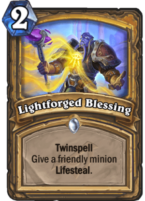 Lightforged Blessing Card